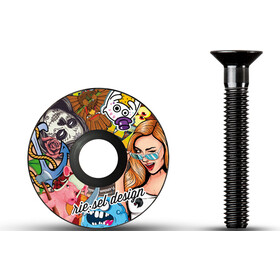 Riesel Design stem:cap, stickerbomb